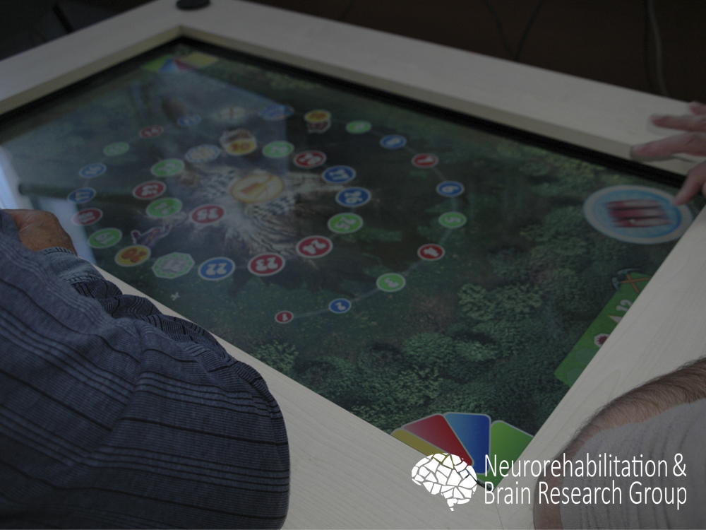 Group therapy with a multitouch tabletop system6