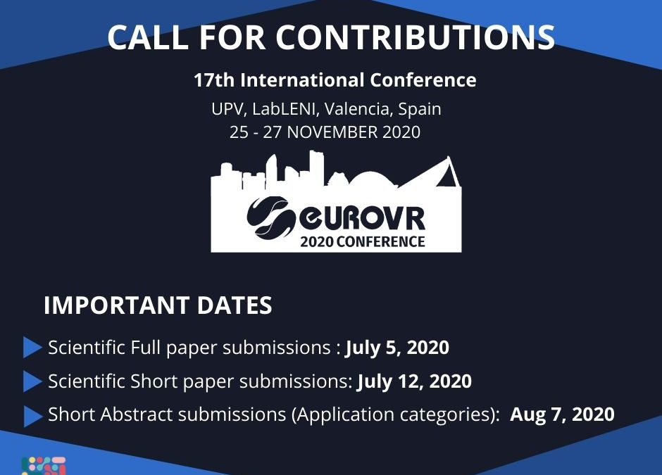 EuroVR 2020 – CALL FOR CONTRIBUTIONS