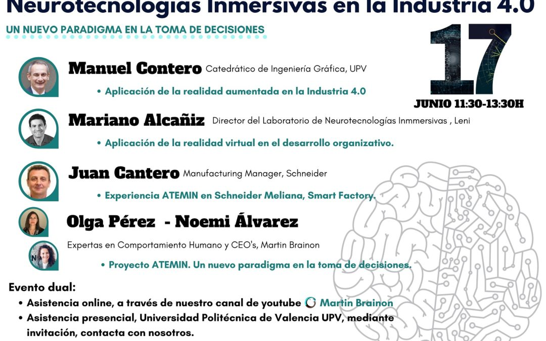 Upcoming event: Immersive Neurotechnologies in Industry 4.0