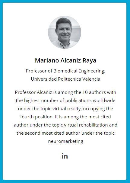 Prof. M. Alcañiz, member of the Executive Committee of EuroXR